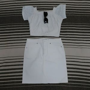 Universal Thread White Denim Mini